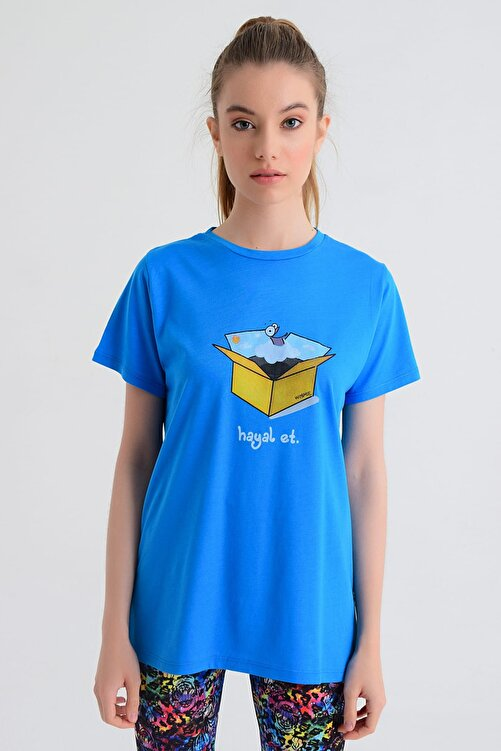b-fit Kadın T-shirt - Wormie Hayalet Kutu - WRMHTK 1
