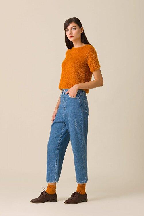 Kuaybe Gider Kadın Mavi Pantolon d4009 2