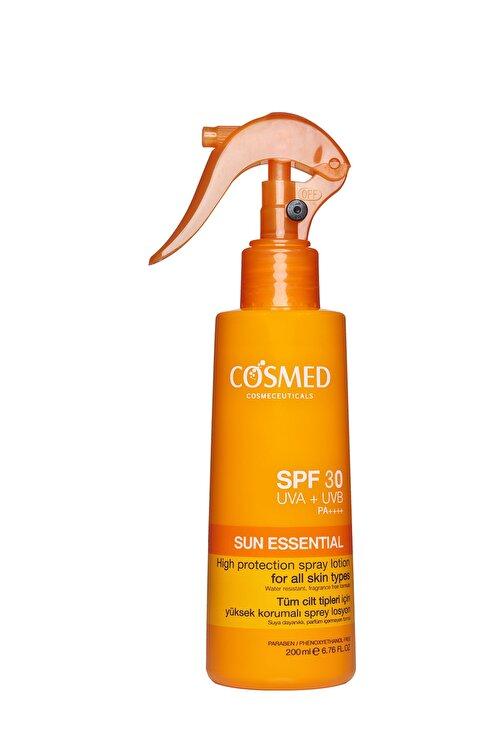 COSMED Tüm Cilt Tipleri için Yüksek Korumalı Güneş Spreyi SPF30 200 ml 8699292992104 1
