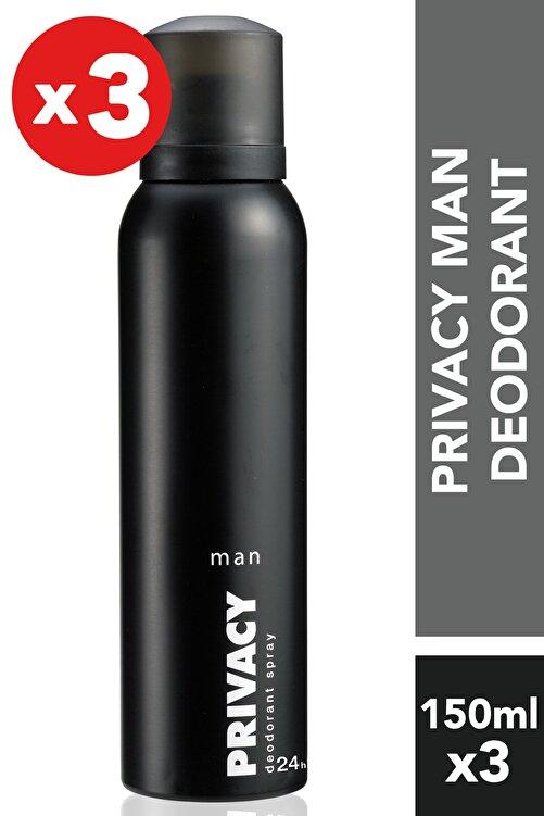 Privacy Men 3'Lü Deodorant (3X150 ml ) 1