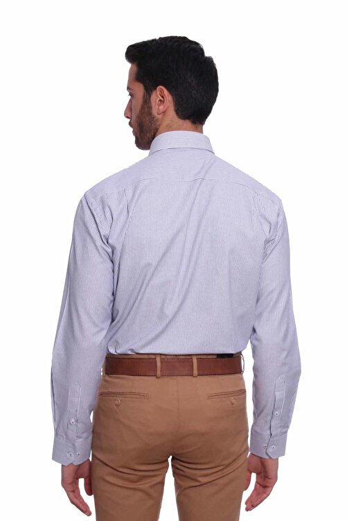 Diandor Uzun Kollu Erkek Gömlek Gri 1912017 2