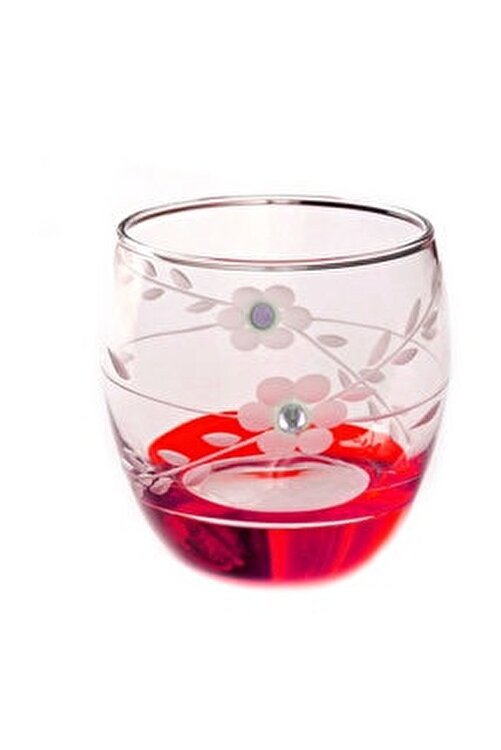 BAŞAK Paşabahçe  41010 Papatya Kırmızı Taşlı  Barel Su-meşrubat Bardağı 6 Adet 1