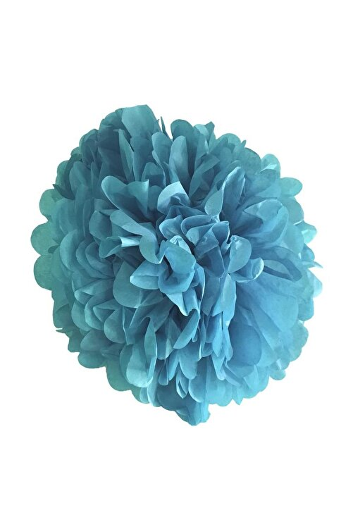 Parti dolabı 1 Adet Açık Mavi Ponpon Gramafon Çiçek Kağıt Doğum Günü Parti Süs 1