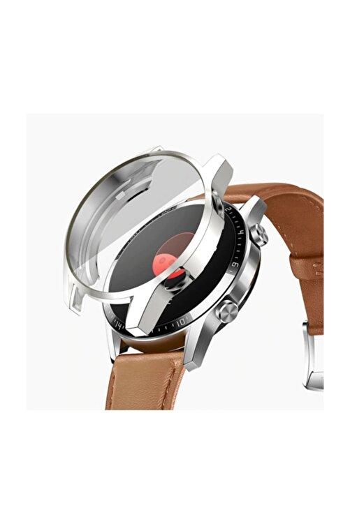 Ally Huawei Watch Gt 2 46 mm 360 Koruma Ultra Ince Silikon Kılıf - Gümüş 1