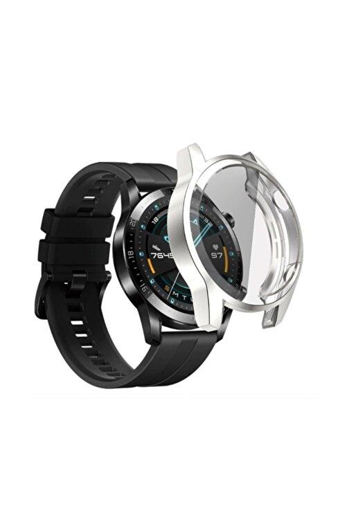 Ally Huawei Watch Gt 2 46 mm 360 Koruma Ultra Ince Silikon Kılıf - Gümüş 2