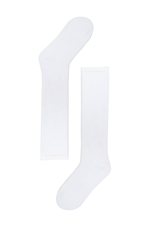 Katia&Bony Kadın Beyaz Family Dizaltı Basic Çorap 1