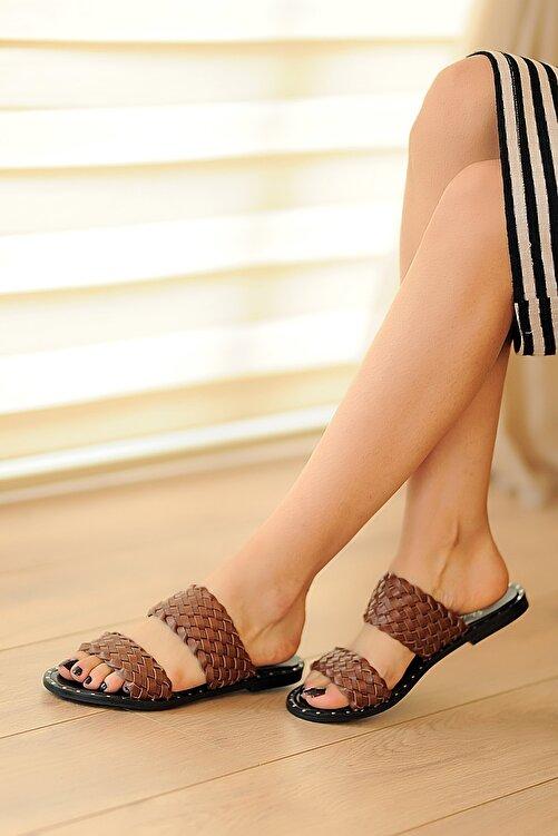 Pembe Potin Taba Kadın Sandalet A0100-20 2