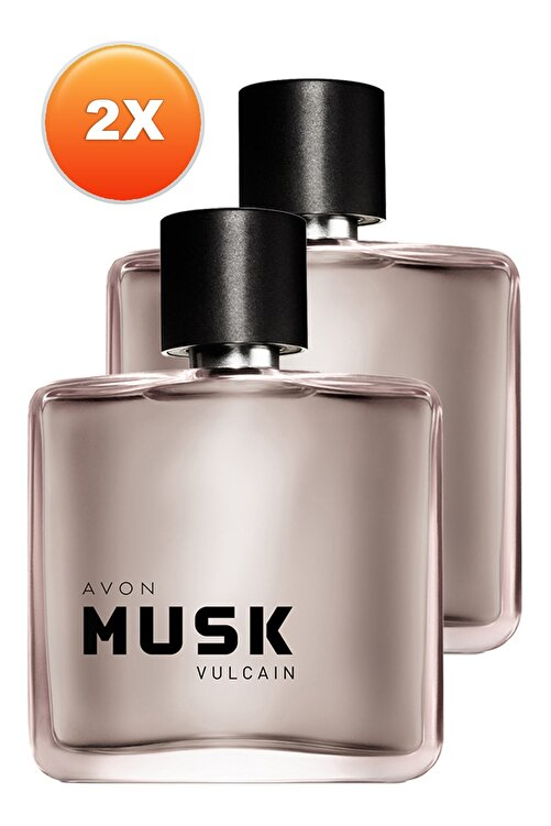 AVON Musk Vulcain Erkek Parfüm Edt 75 ml 2'li Set 5050000104975 1