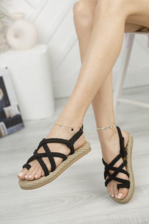 MUGGO Rymw614 Kadın Hasır Sandalet Hediye 1