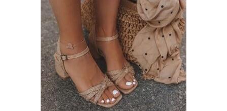 Birbirinden Şık Hasır Sandalet Modelleri
