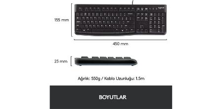 Logitech K120 Siyah Usb Kablolu Q Klavye Uygun Fiyatlı mı?