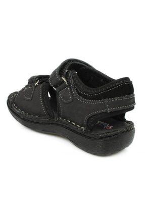 Toddler P Çift Cırt Siyah Çocuk Sandalet 3