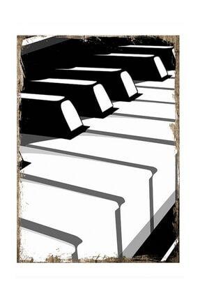 Tablomega Piyano Hediyelik Ahşap Tablo 35x50cm 0