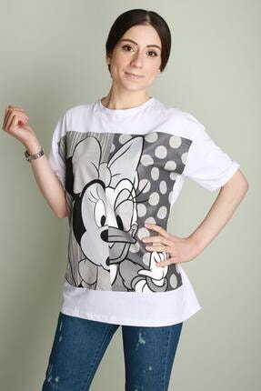 Z GİYİM Bayan T-shirt Black And Grey Mickey Salash 9632zgm20 0