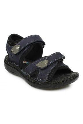 Toddler Çift Cırt Lacivert Çocuk Sandalet 7029 P 0