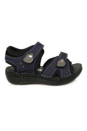 Toddler Çift Cırt Lacivert Çocuk Sandalet 7029 P 1