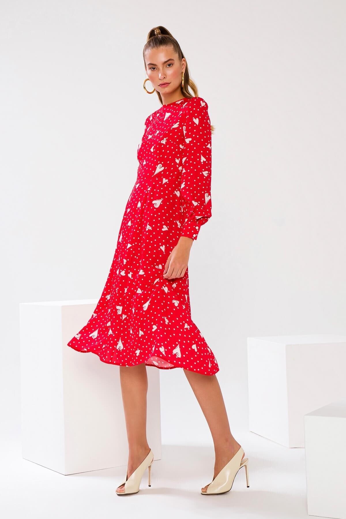The Latest Thing Gıselle Kalp Desenli Sırtı Açık Elbise 2745952 4
