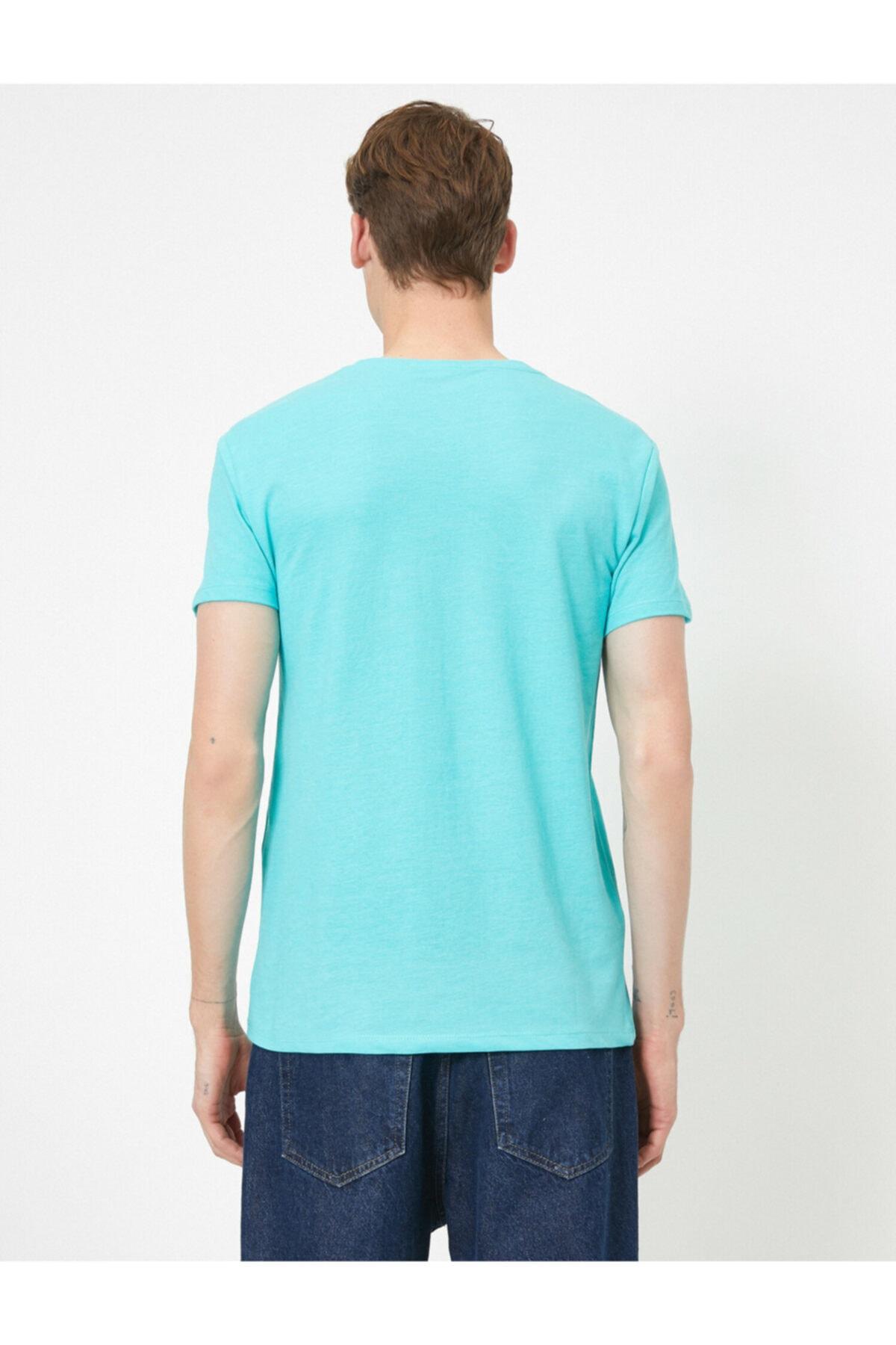 Koton Erkek Yazili Baskili T-shirt