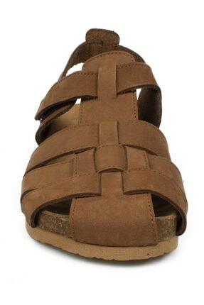 Toddler Erkek Çocuk Tarçın Tek Cırt Sandalet 4682b 2