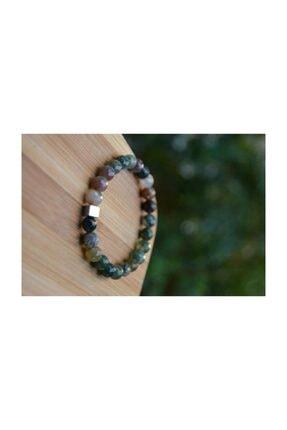 Stoneage Unisex Yeşil Jewellery Hint Akiği Bileklik 3