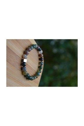 Stoneage Unisex Yeşil Jewellery Hint Akiği Bileklik 4