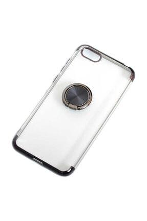 Aksesuarcım Huawei Honor 7s Kılıf Standlı Yüzük Mıknatıslı Şeffaf Silikon Koruma 0