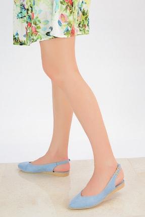 Shoes Time Mavi Süet Kadın Sandalet 20Y 900 2