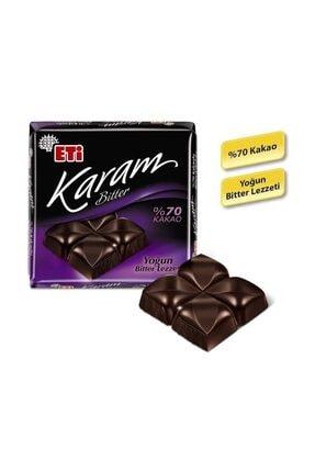 Eti Karam %70 Kakaolu Bitter Çikolata 70 g x 6 Adet 2