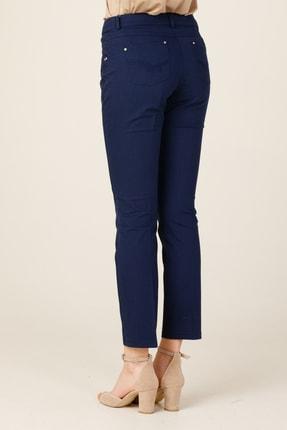 Ekol Kadın Lacivert Boru Paça Pantolon 20Y.EKL.PNT.02244.1 4