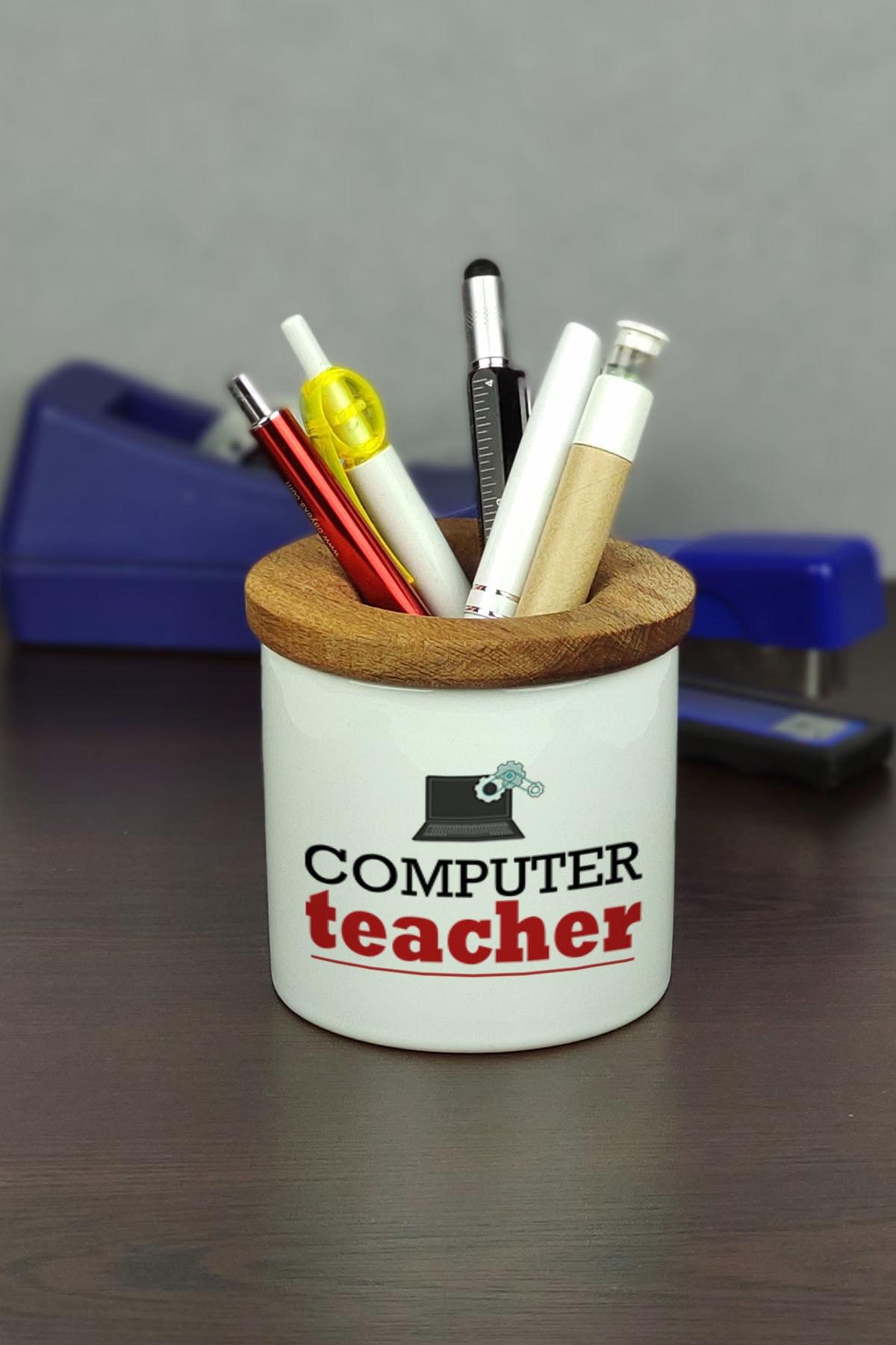 Computer Teacher Seramik Kalemlik