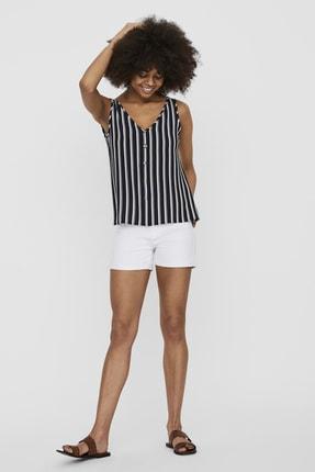 Vero Moda Kadın Navy Blazer V Yaka Düğme Detaylı Kolsuz Bluz 10227138 VMSASHA 10227138 1