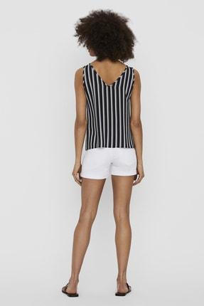 Vero Moda Kadın Navy Blazer V Yaka Düğme Detaylı Kolsuz Bluz 10227138 VMSASHA 10227138 4