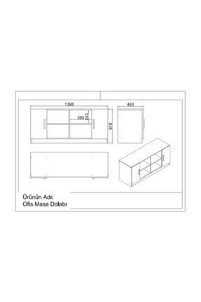 Robin Home Verona Abcf Ofis Büro Masa Takımı Meşe-beyaz 4
