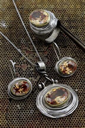 Akyüz Gümüş Otantik El Işi Sarmalı Gümüş Set 040 0