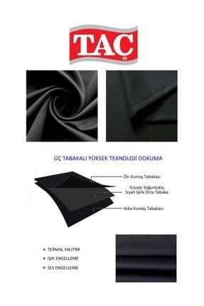 Taç Kullanıma Hazır Blackout Fon Perde - Siyah 1