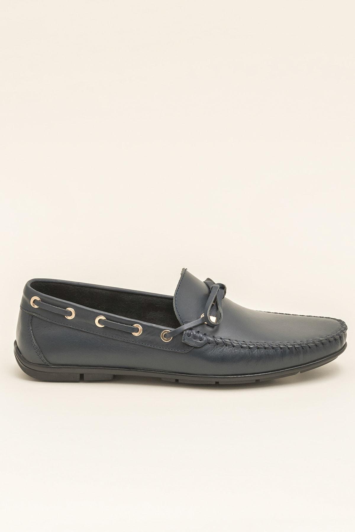 Elle POSEY Hakiki Deri Lacivert Erkek Ayakkabı