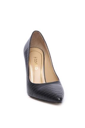 Kemal Tanca Hakiki Deri Siyah Kadın Stiletto Ayakkabı 22 943 BN AYK 2