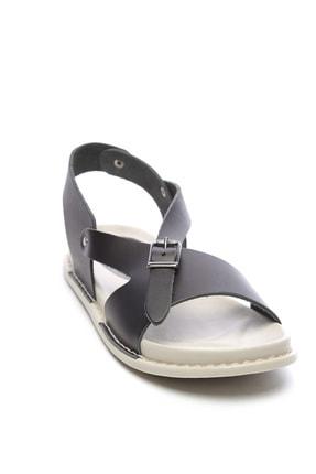 Kemal Tanca Hakiki Deri Siyah  Kadın Sandalet Sandalet 539 1309 BN SNDLT Y20 2