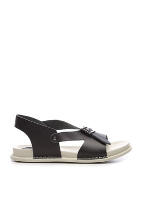 Kemal Tanca Hakiki Deri Siyah  Kadın Sandalet Sandalet 539 1309 BN SNDLT Y20 0