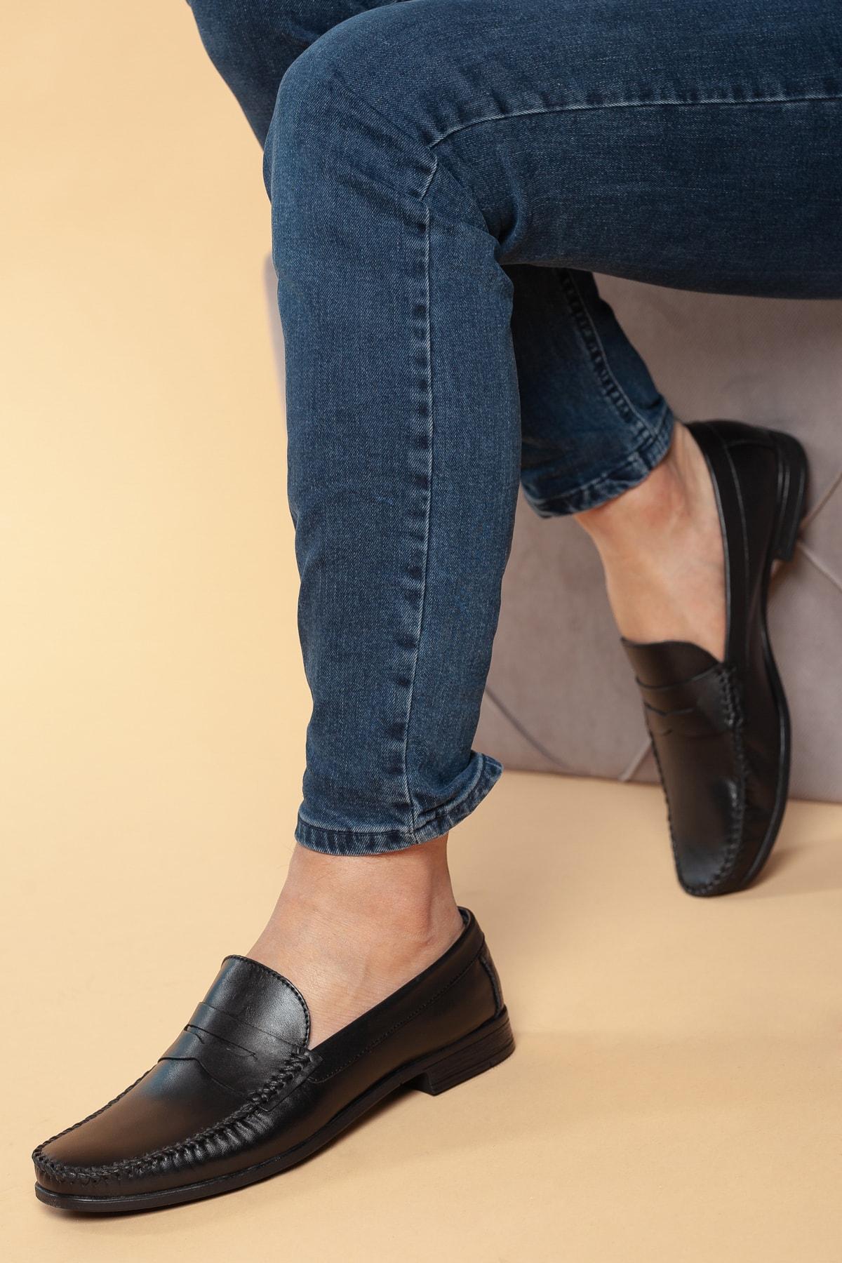 D10180 Günlük Ortopedik Hakiki Deri Baba Ayakkabısı