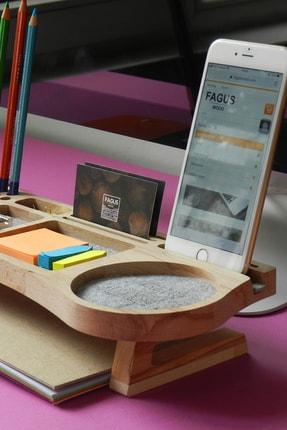 Fagus Wood Mini Stanley Masa Düzenleyici (Gri) 1