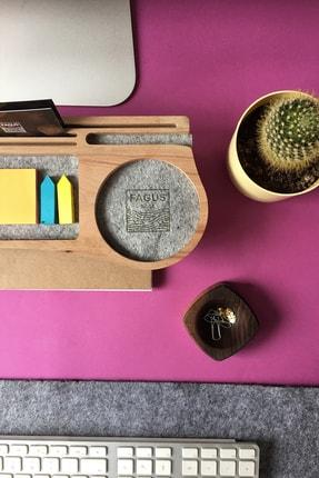 Fagus Wood Mini Stanley Masa Düzenleyici (Gri) 2