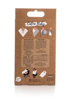 Caline Baby Müslin Bezi Örtü Bal Kabağı Desen - Mavi 120x120 Cm + 4 Adet Ağız Mendili 3