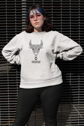Angemiel Wear Koç Burcu Beyaz Kadın Sweatshirt 0