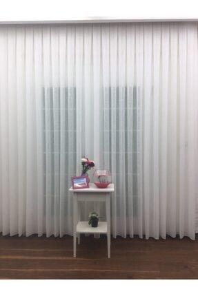 Esse Home Keten Yüksek Gramajlı Düz Tül Perde, 250x260 cm Sık Pile, 1/3 4