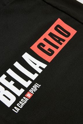 Pull & Bear Kadın Siyah Siyah La Casa De Papel X Pull&Bear Sloganlı Tote Çanta 14158540 1