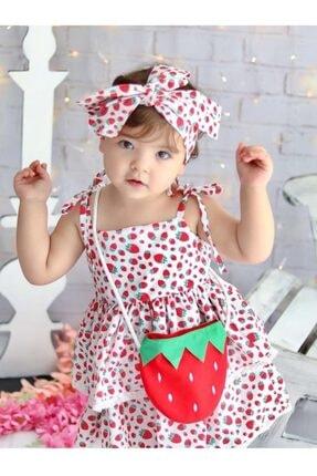 Mnk Çantalı Çilek Elbise 1