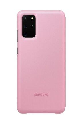 Samsung Galaxy S20 Plus LED View Kılıf Pembe 2