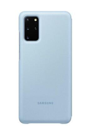 Samsung Galaxy S20 Plus LED View Kılıf Mavi 2