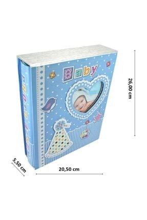 Süsle Baby Party Bebek Fotoğraf Albümü, Kalp Çerçeveli, Kutulu Ve 200 Resimlik, Mavi 1